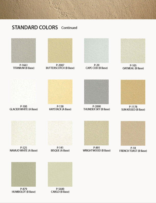 Merlex Stucco Standard Colors