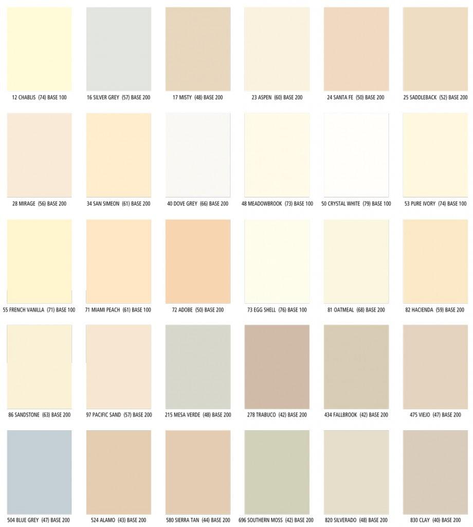 LaHabra Standard Stucco Colors