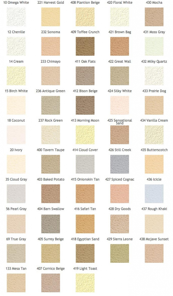 Omega Traditional Stucco Colors
